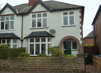 Thumbnail 3 bed semi-detached house to rent in Clumber Road, West Bridgford