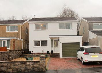 Thumbnail 4 bed detached house for sale in Ffordd Talfan, Garden Village, Swansea