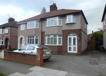 Thumbnail 3 bed property to rent in Heath Road, Bebington, Wirral
