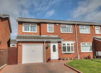 Thumbnail 4 bed semi-detached house for sale in Nuneaton Way, The Boltons, Newcastle Upon Tyne