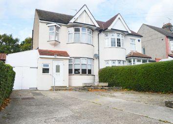 Thumbnail 3 bed semi-detached house for sale in Fairholme Avenue, Gidea Park, Romford