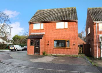 Thumbnail 3 bed detached house for sale in Windmill Close, Poringland, Norwich, Norfolk