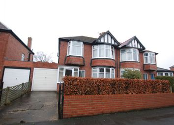 Thumbnail 3 bed semi-detached house for sale in Polwarth Drive, Gosforth, Newcastle Upon Tyne