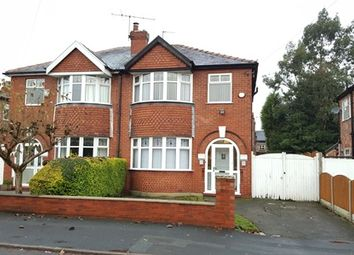 Thumbnail 3 bed semi-detached house to rent in Alexandra Road South, Manchester