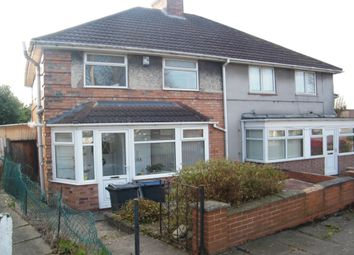 Thumbnail 3 bed semi-detached house for sale in Carcroft Road, Birmingham