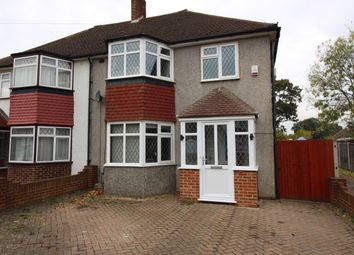 Thumbnail 3 bed semi-detached house for sale in Stoneleigh Park Road, Worcester Park, Surrey