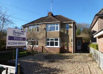 Thumbnail 2 bed semi-detached house to rent in New Road, Ascot