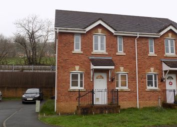 Thumbnail 3 bed semi-detached house for sale in Cwrt Pant Yr Awel, Lewistown, Bridgend.