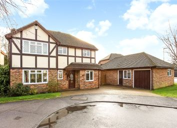Thumbnail 4 bedroom detached house for sale in Netherhouse Moor, Church Crookham, Fleet, Hampshire