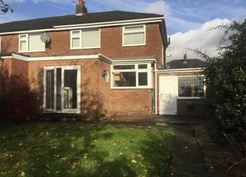 Thumbnail 3 bedroom semi-detached house to rent in Warren Close, Denton, Manchester