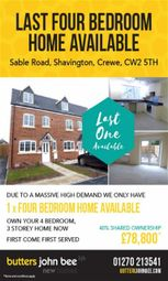 Thumbnail 4 bedroom mews house for sale in Sable Road, Shavington, Crewe