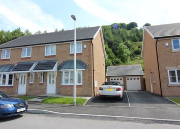 Thumbnail 3 bed semi-detached house to rent in Peacehaven Court, Tredegar