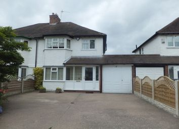 Thumbnail 3 bed detached house to rent in Walmley Road, Sutton Coldfield