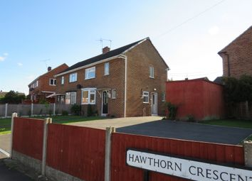 Thumbnail 2 bed semi-detached house for sale in Hawthorn Crescent, Findern, Derby