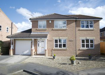 Thumbnail 4 bed detached house for sale in Brunswick Close, Strensall, York