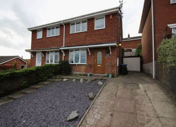 Thumbnail Semi-detached house for sale in Rennie Crescent, Cheddleton, Staffordshire