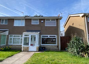 Thumbnail 3 bed semi-detached house for sale in Woodham Close, Barry
