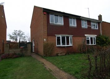 Thumbnail 3 bed semi-detached house for sale in Lawrence Walk, Newport Pagnell, Buckinghamshire