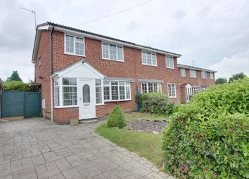 Thumbnail 3 bed semi-detached house to rent in Huntingdon Drive, Castle Donington, Derby