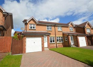 Thumbnail 3 bed semi-detached house for sale in Dunellan Avenue, Moodiesburn, Glasgow