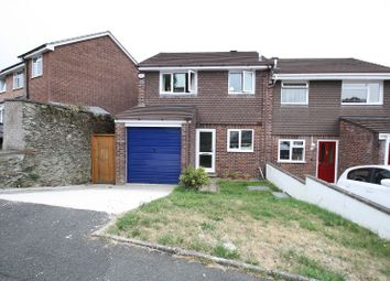 Thumbnail 3 bed semi-detached house to rent in Mary Dean Avenue, Tamerton Foliot, Plymouth