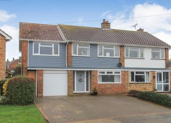 Thumbnail 4 bed semi-detached house for sale in Meadow Walk, Seasalter, Whitstable