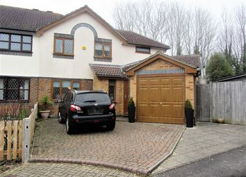 Thumbnail 4 bedroom semi-detached house for sale in Armada Close, Rownhams, Southampton