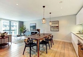 Thumbnail 3 bed flat to rent in Merchant Square, East Harbet Road, London