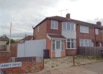 Thumbnail 3 bedroom end terrace house for sale in Abbey Drive, Leicester