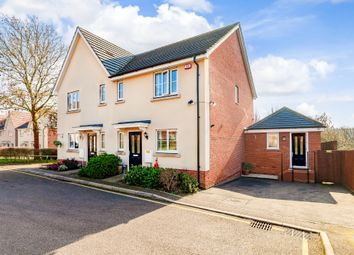 Thumbnail 4 bed semi-detached house for sale in Knight's Orchard, Whittlesford, Cambridge
