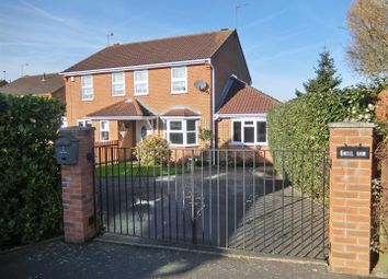 Thumbnail 3 bed semi-detached house for sale in Mill Dam, Hugglescote, Leicestershire