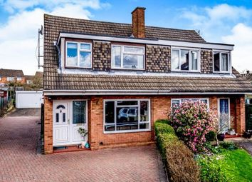 Thumbnail 3 bed semi-detached house for sale in Quantock Close, Bedford, Bedfordshire