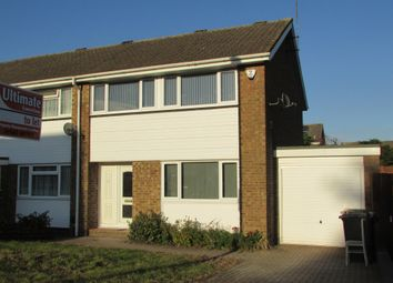 Thumbnail 3 bed semi-detached house to rent in Leyhill Drive, Luton, Bedfordshire