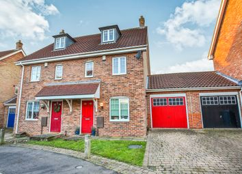 Thumbnail 3 bed town house for sale in Attelsey Way, Norwich