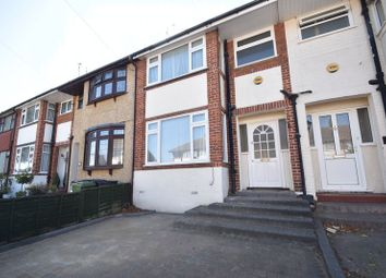 Thumbnail 3 bed terraced house to rent in Elmore Road, Luton