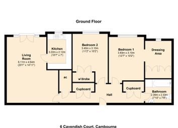 Thumbnail 2 bedroom flat for sale in Sackville Way, Cambourne, Cambridge