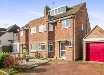 Thumbnail 3 bed semi-detached house for sale in Hill Way, Oadby, Leicester