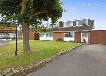 Thumbnail 3 bed semi-detached bungalow for sale in Tudor Close, Stone, Staffordshire