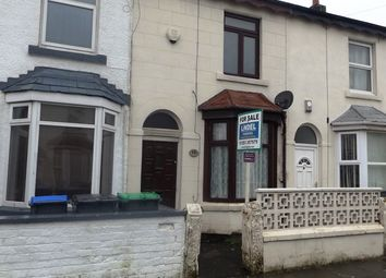 Thumbnail 2 bed terraced house for sale in Wall Street, Blackpool