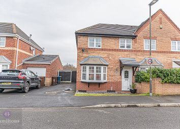 Thumbnail 3 bed semi-detached house to rent in Clough House Drive, Leigh, Greater Manchester.