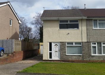 Thumbnail 2 bed semi-detached house for sale in Byron Avenue, Beddau, Pontypridd