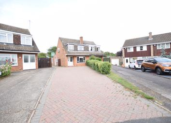 Thumbnail 3 bed semi-detached house for sale in Quantock Close, Bedford