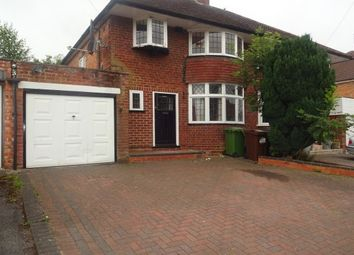 Thumbnail 3 bed semi-detached house to rent in Charles Road, Solihull