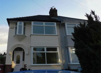 Thumbnail 3 bed semi-detached house to rent in Windsor Road, Huyton, Liverpool
