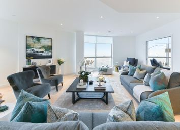 Thumbnail 3 bedroom flat to rent in Charrington Tower, New Providence Wharf, London