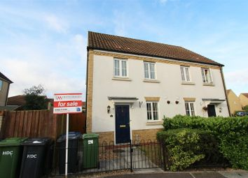 Thumbnail 2 bedroom semi-detached house for sale in Christie Drive, Hinchingbrooke Park, Huntingdon