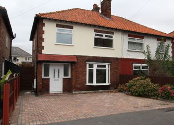 Thumbnail 3 bed semi-detached house to rent in Rosedale Avenue, Crosby, Liverpool