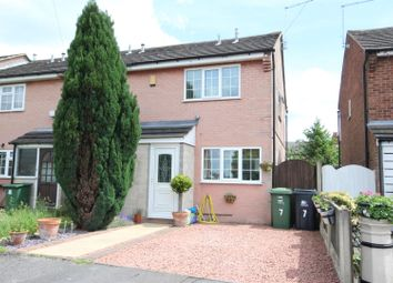 Thumbnail 2 bed terraced house for sale in Hill View Close, Horsley Woodhouse, Ilkeston