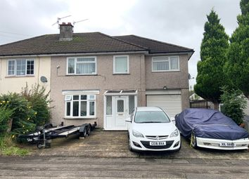 Thumbnail 4 bed semi-detached house for sale in Fields Road, Oakfield, Cwmbran