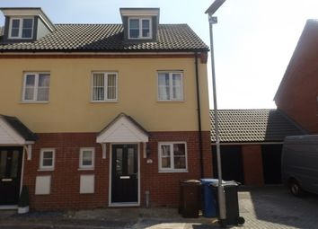 Thumbnail 3 bed town house to rent in Malkin Close, Ipswich